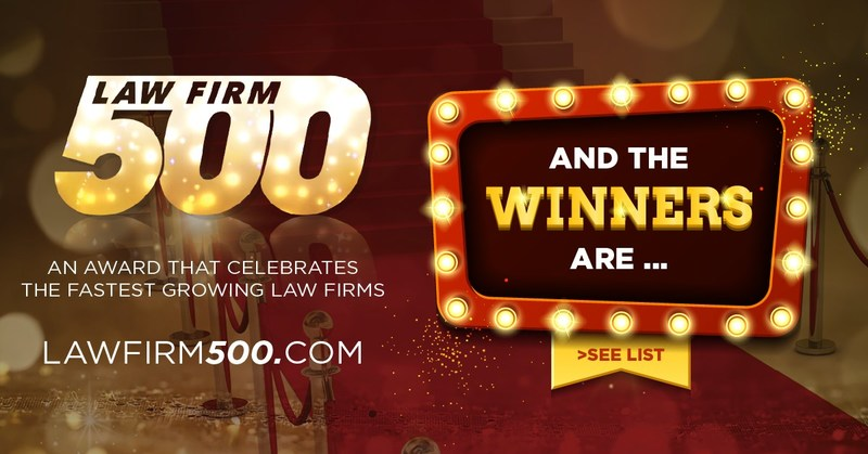 The Winning Honorees of the 2017 Law Firm 500 Awards experienced growth between 25% and an astonishing 5400%. View the list of 2017 Law Firm 500 Honorees at www.lawfirm500.com/2017-award-honorees/