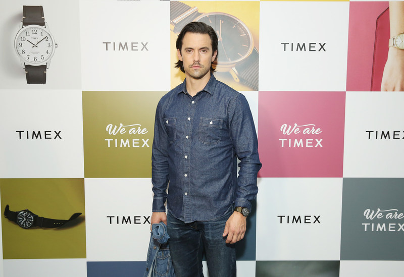 """Emmy nominated Milo Ventimiglia hosts the """"We Are TIMEX"""" event, and showcases the TIMEX Fall 2017 collection in New York City. PHOTO CREDIT:  Monica Schipper for Getty Images"""