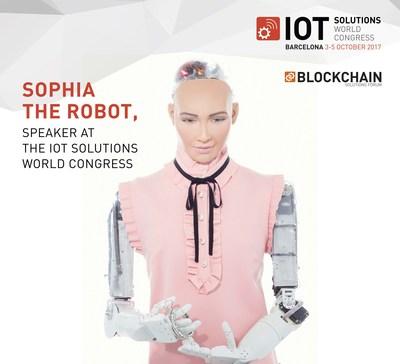 Sophia the Robot, speaker at the IoT Solutions World Congress (PRNewsfoto/Fira de Barcelona)