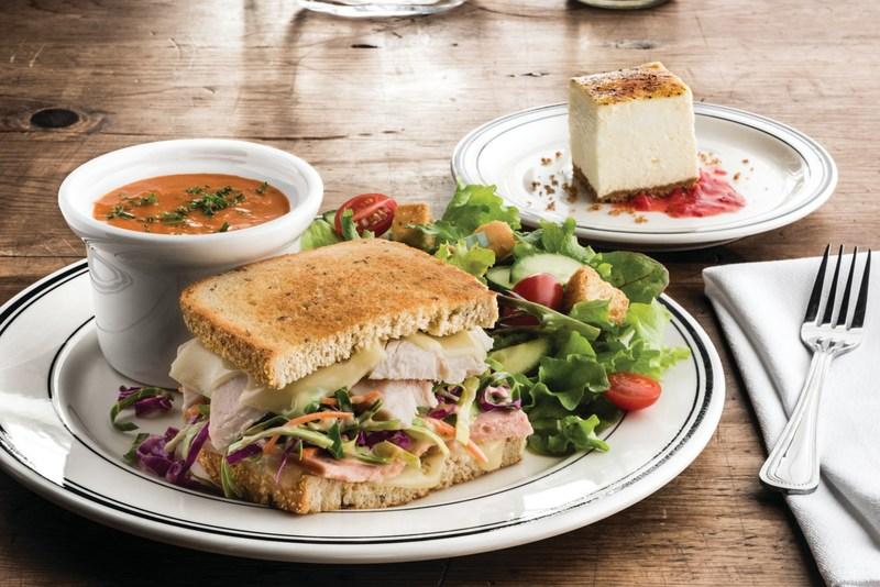 Mimis Soup, Sandwich, Salad, Dessert
