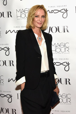 Uma Thurman celebrates DuJour's Fall Issue at the Moxy Time Square's Magic Hour Rooftop Bar + Lounge.