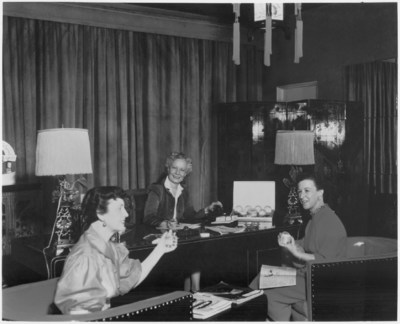 Sally Hansen behind her House of Hollywood desk