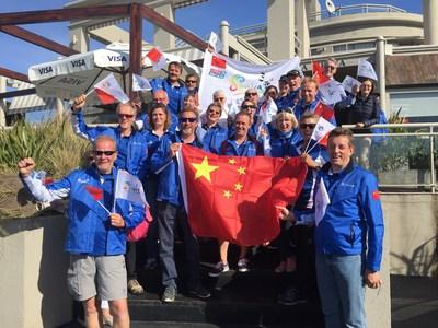 A tripulação do Sanya Serenity Coast (PRNewsfoto/Hainan Provincial Sailing Assoc)