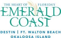 The Heart of Florida's Emerald Coast is Destin, Fort Walton Beach, and Okaloosa Island. Logo courtesy of the Emerald Coast Convention  & Visitors Bureau