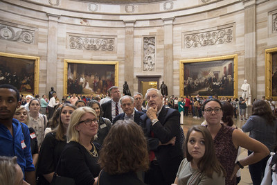 Arcadia University Interim President Hank Brown leads a tour of Art and Design students through the U.S. Capitol Building.