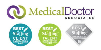 Medical Doctor Associates has won Inavero's 2017 Best of Staffing(R) Client and Talent Awards