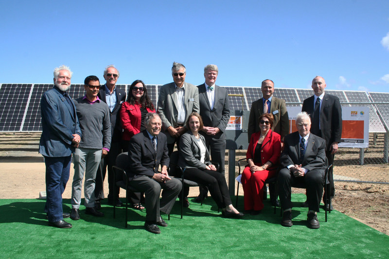 Monterey Regional Airport Board of Directors, Community Leaders, and OpTerra Team celebrate the Big Switch to on-site solar on Thursday, September 21, 2017.