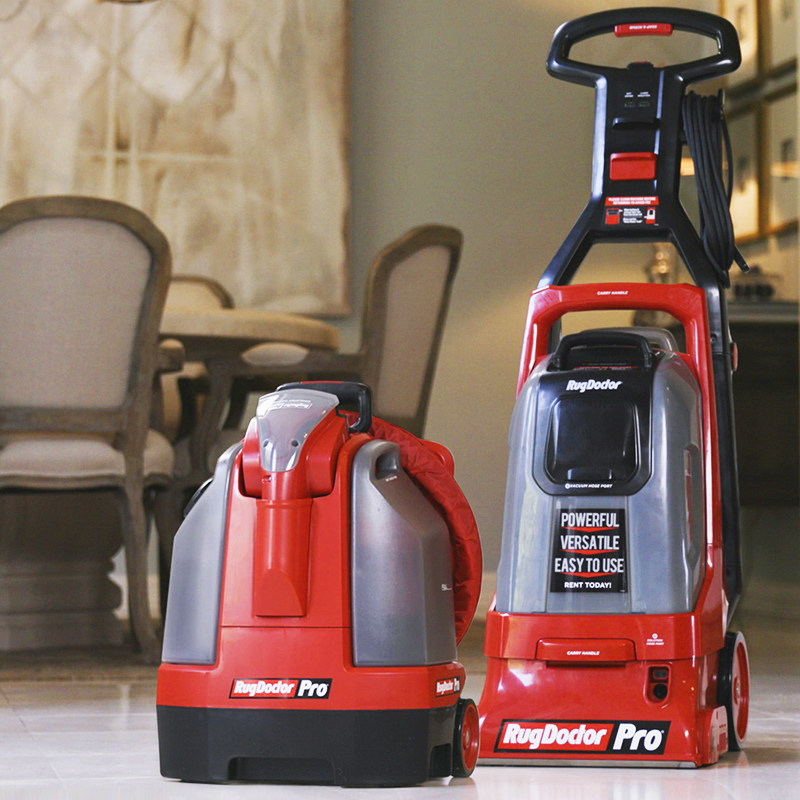 Rug Doctor's new Pro Detailer and Portable Spot Cleaner (left) and Pro Deep Upright Carpet Cleaner (right) are now available in Denver and Portland.