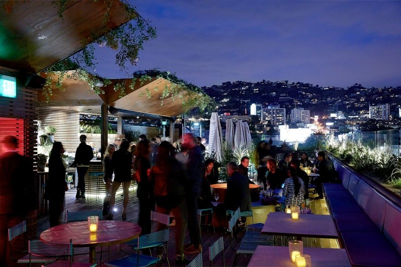 West Hollywood has many rooftop locations;  this one is E.P. & L.P's rooftop lounge, known for its Insta-worthy backdrops. This is just one place to rise above it all during the city's popular Halloween Carnaval this year.