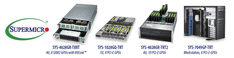 Supermicro offers widest selection of Volta GPU-optimized systems in the industry.