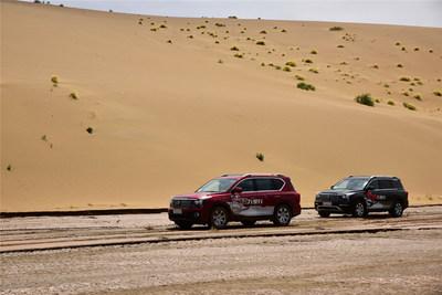 Les VUS distinctifs de GAC Motor complètent une épreuve d'escapade routière au Xinjiang dans un climat extrême