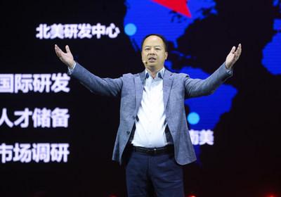 Yu Jun, presidente de GAC Motor en el evento de presentación de los modelos GS7/GS3