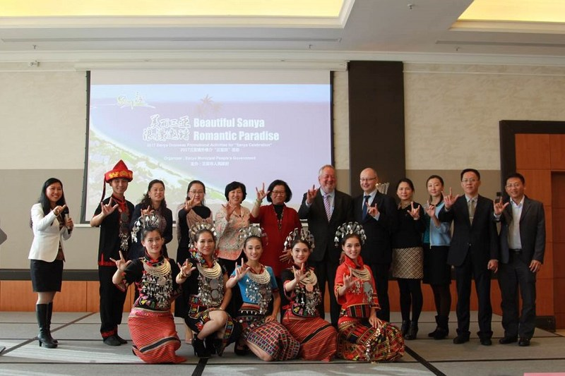 Group photo of attendees taking part in The Sanya Celebration promotional meeting