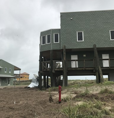 Category 4 Hurricane Harvey, with wind speeds between 120 and 140 mph, slammed into Mustang Island Conference Center in August. Impact-resistant DaVinci Roofscapes composite roofing tiles on the roof and sides of the structures held up to severe weather conditions with minor damage to the facility.