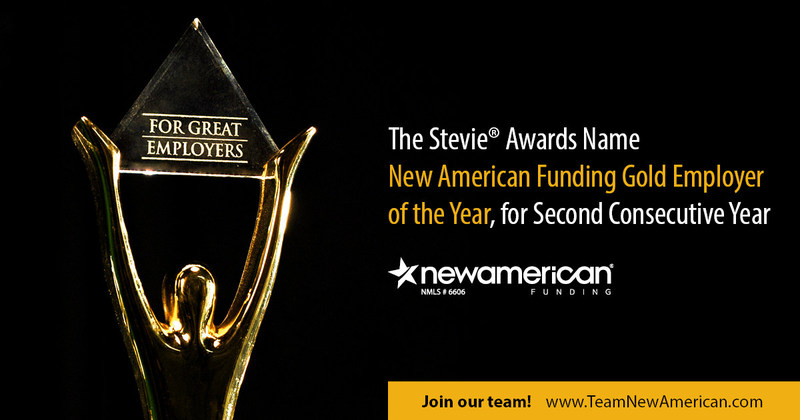 The Stevie® Awards Name New American Funding Gold Employer of the Year, for Second Consecutive Year