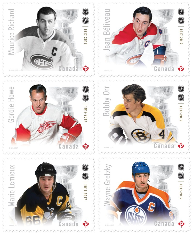 Canadian Hockey Legends (CNW Group/Canada Post)
