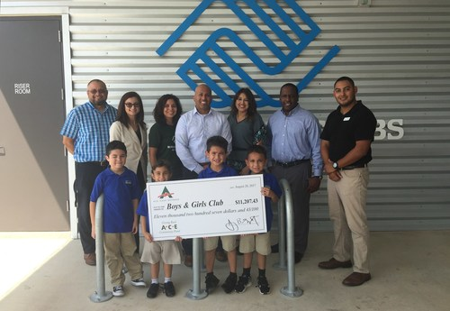 ACE's team presents their donation to Boys & Girls Clubs of San Antonio