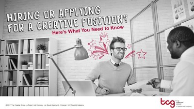To give both applicants and employers a hand in the hiring process, The Creative Group developed a road map, based on survey results of more than 400 advertising and marketing executives and 1,000 workers.