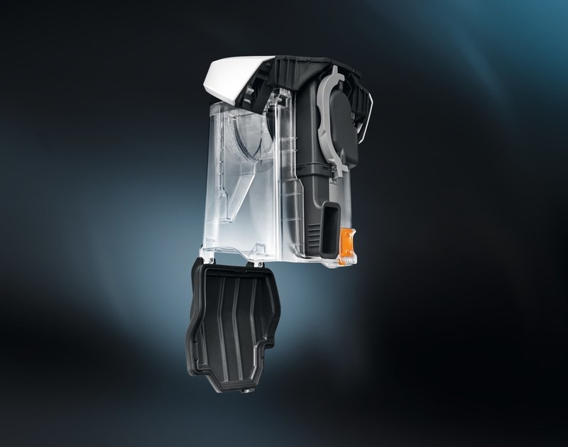 Le Blizzard assure d'excellentes performances de nettoyage et une élimination particulièrement pratique et hygiénique de la saleté et de la poussière (Groupe CNW/Miele Canada)