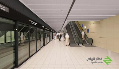 Riyadh Metro platform rendering (Image courtesy of Riyadh Metro)