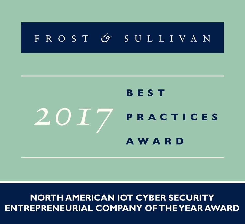 2017 North American IoT Cyber Security Entrepreneurial Company of the Year Award (PRNewsfoto/Frost & Sullivan)