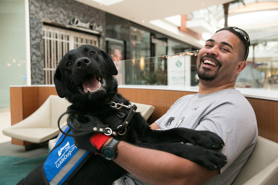 Southeastern Guide Dogs service dog Max brings a new and hopeful smile to the face of wounded veteran Daniel Sepulveda.