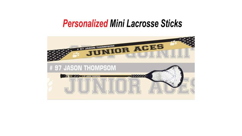 Personalized Mini Lacrosse Sticks