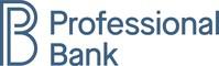 Professional Bank logo (PRNewsfoto/Professional Bank)