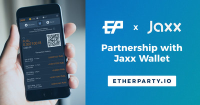 Etherparty Inks New Deal to Bring FUEL to Jaxx Wallet Users (CNW Group/Etherparty)