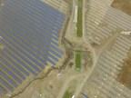 Elemental Energy's Brooks Solar project under construction, September 2017 (CNW Group/Elemental Energy Inc.)
