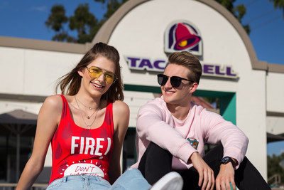Beginning today, fans of both brands can submit photos or videos on social using #F21xTacoBell to be featured in design details alongside models debuting the collection. Select content submitted will be incorporated on the runway on October 10. Beloved Taco Bell super fans Brittany Creech and Andrew McBurnie first defined the title super fan with iconic Taco Bell senior portraits and will model the collection along with a diverse set of fans and influencers.