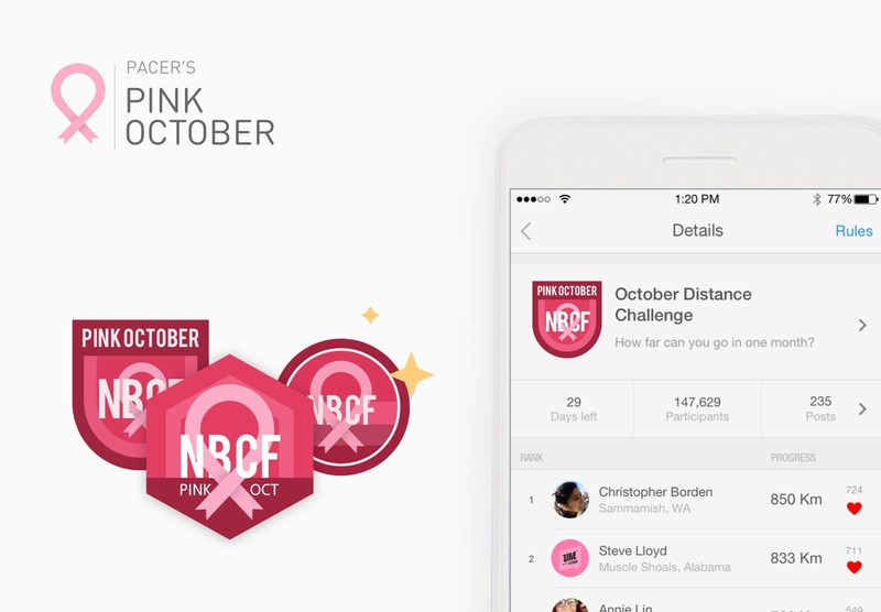 Pacer Pedometer Launches its Pink October Program