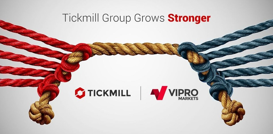 Tickmill Group looks to new horizons by acquiring Vipro Markets, a milestone in its strategy to raise the bar higher and thrive in the ever-demanding forex market. (PRNewsfoto/Tickmill Group)