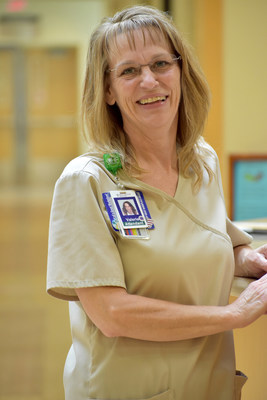 In recognition of her exemplary efforts to provide patients with a hygienic, healing atmosphere, Valerie Macey, an environmental services technician at The Medical Center at Franklin in Franklin, Ky., has been selected by AHE and Kimberly-Clark Professional as the 2017 Heart of Healthcare Award winner.