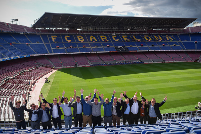 SPIN Lab network partners, Institutions and HYPE Board at the Camp Nou Stadium (Photography by: Maoz Eliakim)