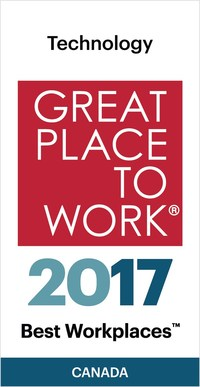 IndustryBuilt has been named to the 2017 Best Workplaces in Technology list after being recognized as a Great Place to Work for the fourth consecutive year. (CNW Group/IndustryBuilt Software)