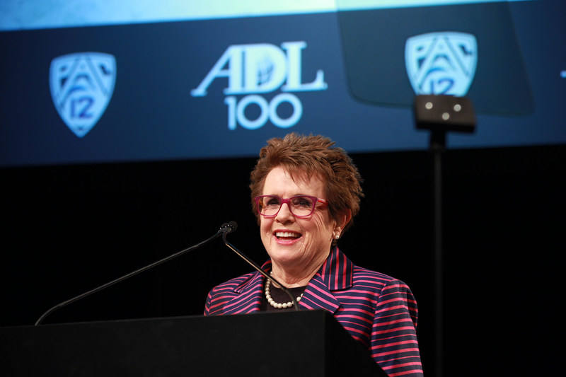 Tennis legend Billie Jean King, who spoke at an ADL event in 2013, is an inaugural member of ADL's Sports Leadership Council.