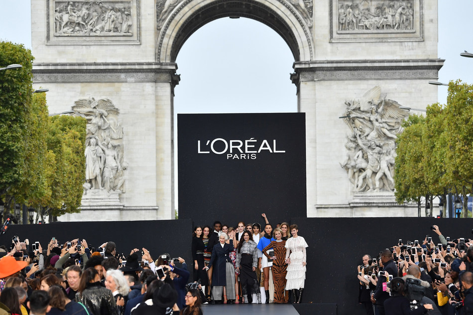 """""""Le Defile L'Oreal Paris"""": Relive the Brand's First Fashion and Beauty Runway Show on the Champs-Elysees! (PRNewsfoto/L'Oreal Paris)"""