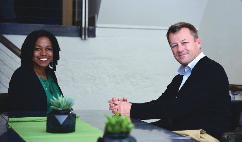 (L to R:  Stacy Brown-Philpot, CEO, TaskRabbit and Jesper Brodin, CEO, IKEA Group)
