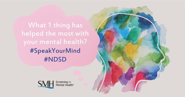 This National Depression Screening Day, Screening for Mental Health is asking people to share their story and #SpeakYourMind.