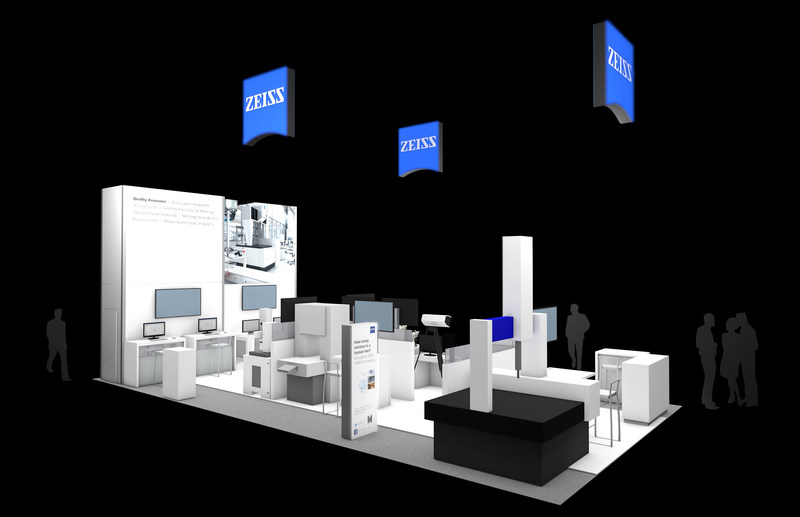ZEISS Industrial Metrology booth at the Quality Show in Chicago, October 24-26, 2017.