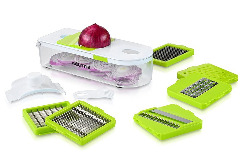 Gourmia offers a line of contemporary, must-have kitchen gadgets that includes over 50 different items for all types of users. For example, this Multipurpose Kitchen Dicer Set allows users to eat healthy or make party trays.