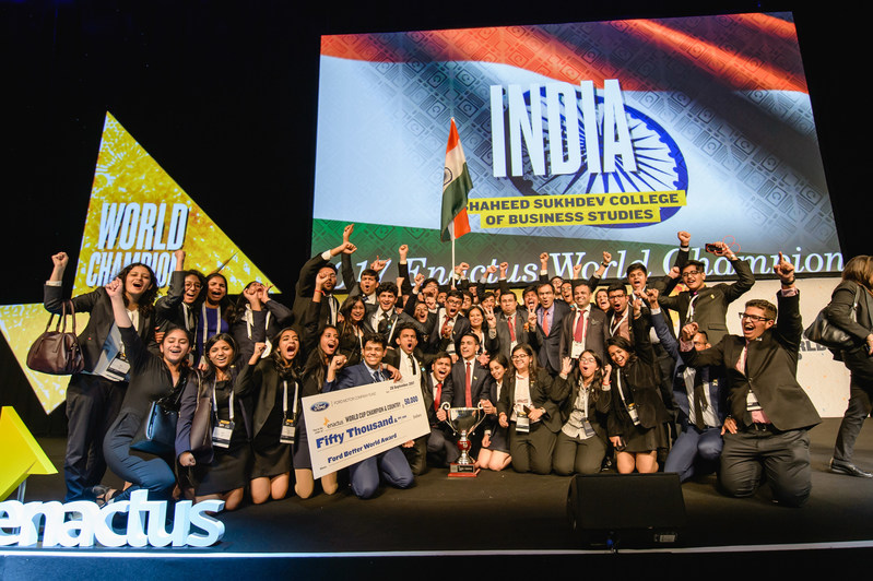 Team India Wins Enactus World Cup 2017 (CNW Group/Enactus Global)