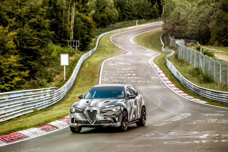 2018 Alfa Romeo Stelvio Quadrifoglio sets a Nürburgring record for a production SUV with a 7 minute and 51.7 second lap time