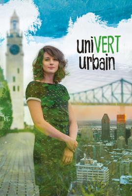 Gabrielle Lamontagne-Hallé, journaliste-animatrice de la série uniVERT urbain diffusée à Canal Savoir. Photos: ©Nicolas Paquet. (Groupe CNW/Canal Savoir)