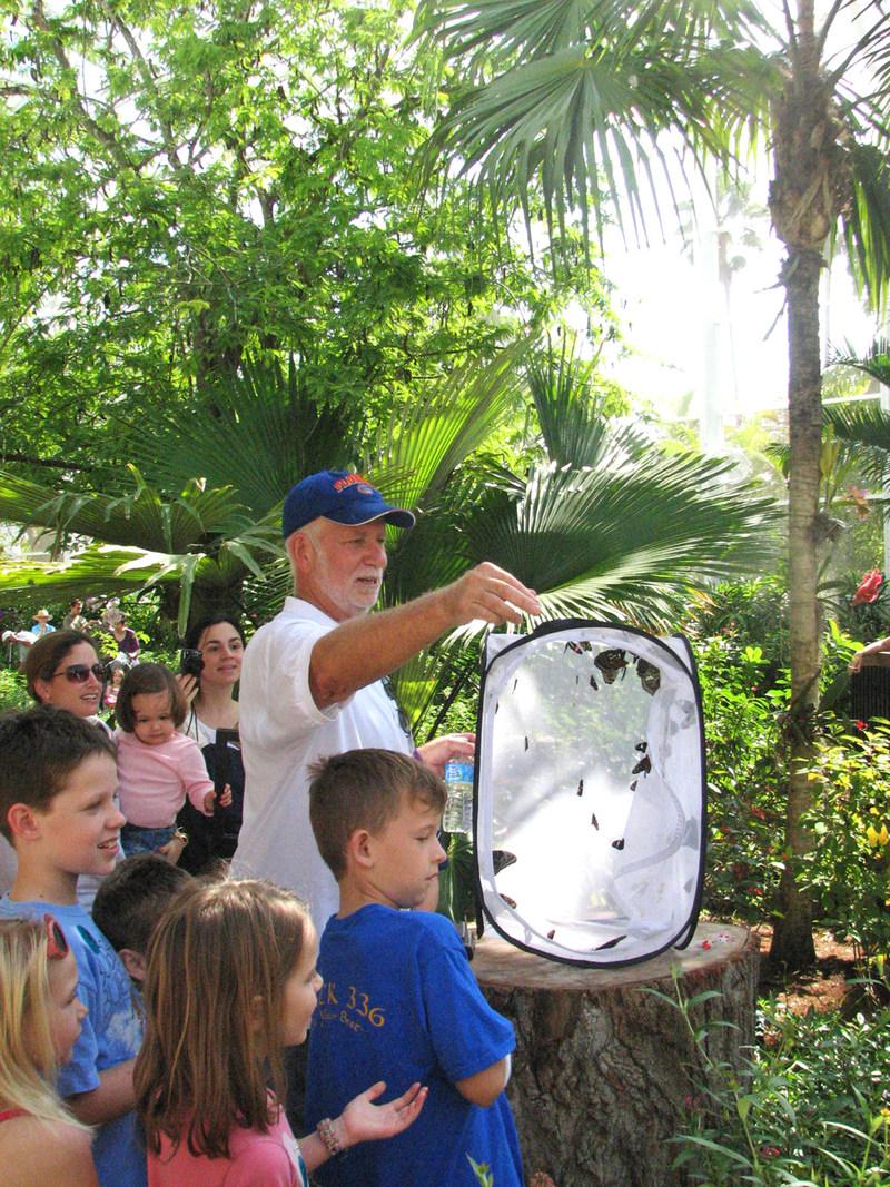 Wings of the Tropics butterfly garden release.