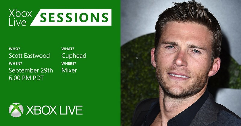 Xbox Live Sessions welcomes Scott Eastwood to the set to play Cuphead on September 29 at 6 p.m. PST.
