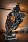 AsiaSat 9 in launch configuration at SSL spacecraft manufacturing facility in Palo Alto, Calif. (CNW Group/SSL)
