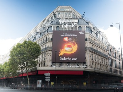 Sulwhasoo ouvre sa première boutique européenne aux Galeries Lafayette à Paris