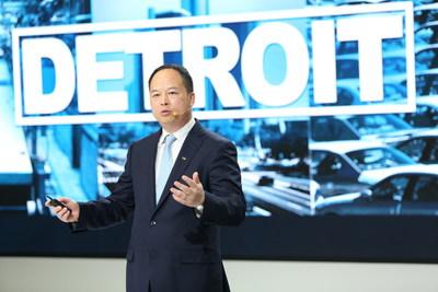 M. Yu Jun, président de GAC Motor, a souligné que la société s'est forgé un nouveau parcours visant le marché haut de gamme et qui est assuré par la meilleure qualité et est porté par l'innovation. (PRNewsfoto/GAC Motor)